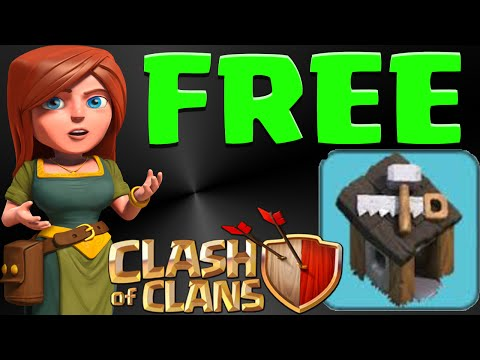 CLash of CLans How To Get your 3rd builder hut FREE| Free Gems