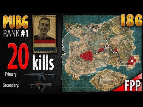 PUBG Rank 1 - ibiza 20 kills [EU] SOLO FPP - PLAYERUNKNOWN'S BATTLEGROUNDS #186