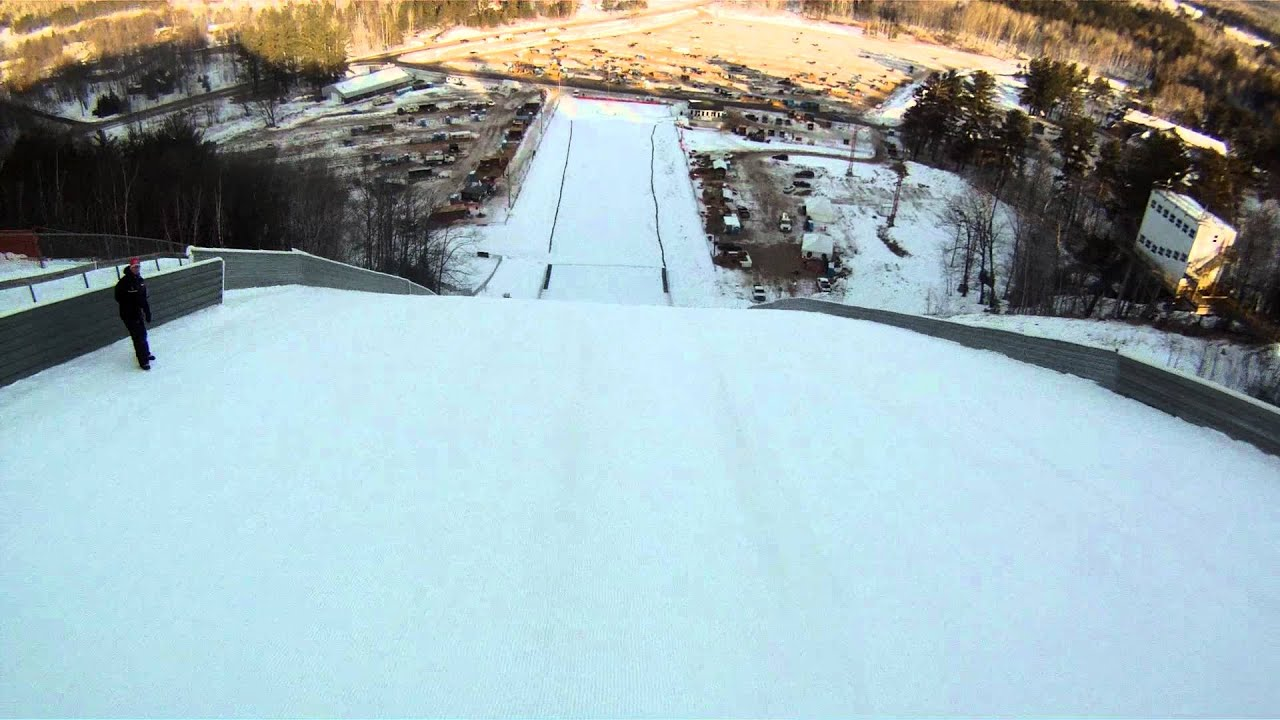ski jumping continental cup 2012 gopro pine mountain iron mountain