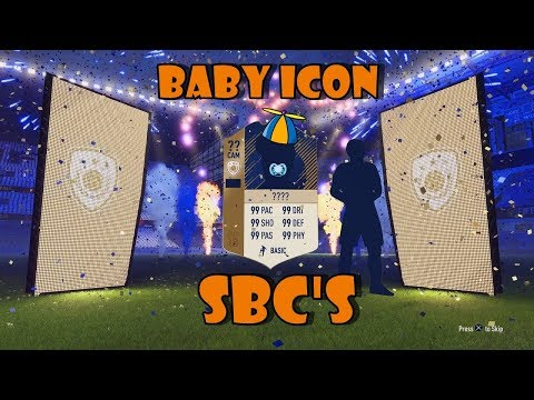 Baby Icon SBC's Using Bronze Upgrade Method??? Live - Fifa 18