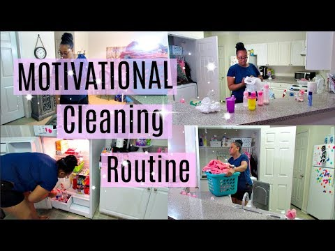 MOTIVATIONAL CLEANING ROUTINE | STAY AT HOME MOM | MOM OF TWO | Destiny's Life
