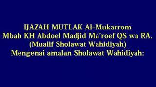 Cara Pengamalan Sholawat Wahidiyah