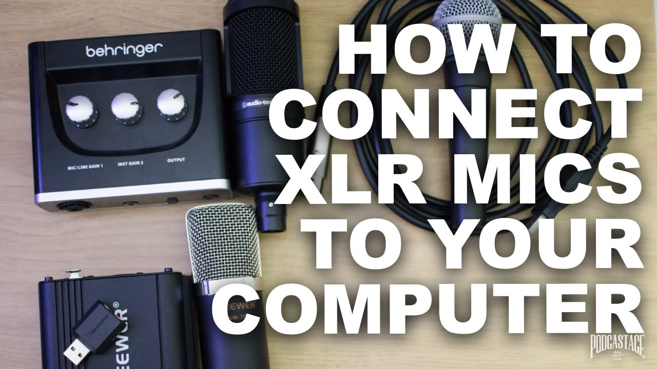 how to connect an xlr mic to computer for beginners [ 1280 x 720 Pixel ]