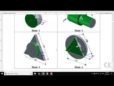 Solidworks - Hướng dẫn lệnh vẽ đường tròn - CIRCLE