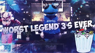 PLAYING WITH WORST LEGEND 3 ' s EVER !!! NBA 2K16 MY PARK + STAGE 10K