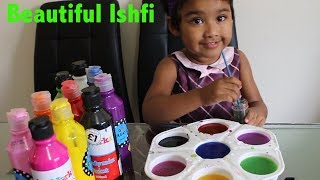 Learn Colors with Painting Colors with Beautiful Ishfi