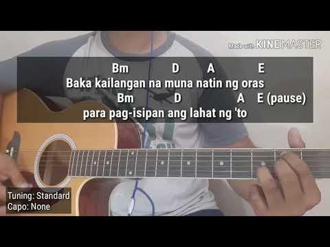 Kung Tayo Talaga - Skusta Clee (Acoustic Karaoke With Chords)