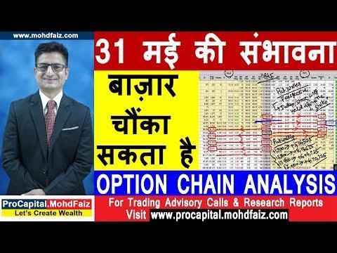 31 मई की संभावना   बाज़ार चौंका सकता है NIFTY OPTION CHAIN ANALYSIS
