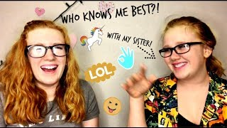Who Knows Me Best?! with my sister | Ella Rose
