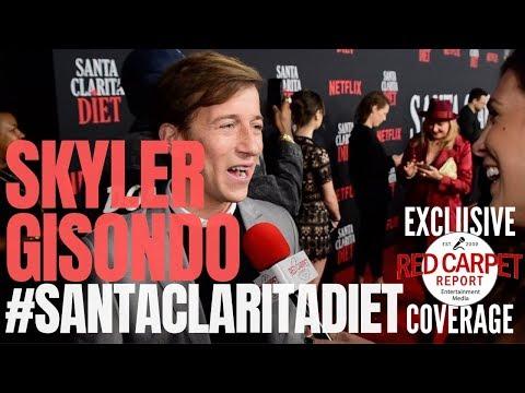 "Skyler Gisondo interview at Netflix's ""Santa Clarita Diet"" S3 Premiere Event #SantaClaritaDiet"