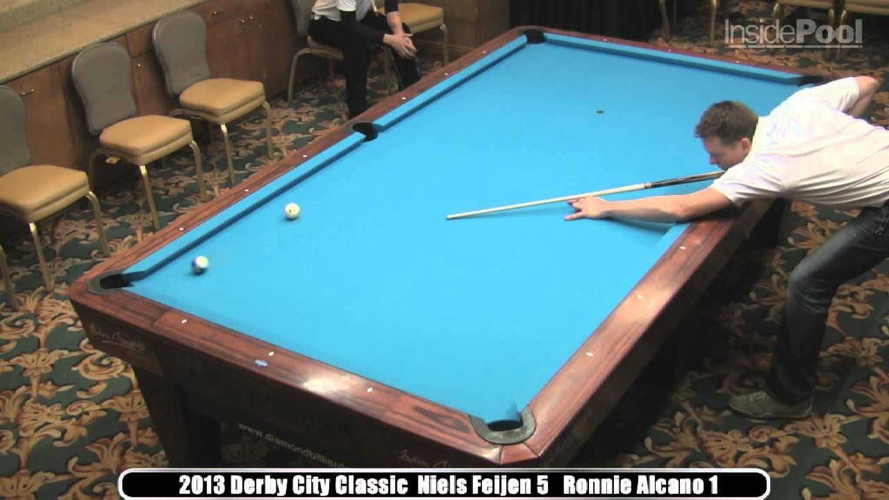 Niels Feijen Vs Ronnie Alcano Derby City Classic Big Foot Ball - 10 foot pool table