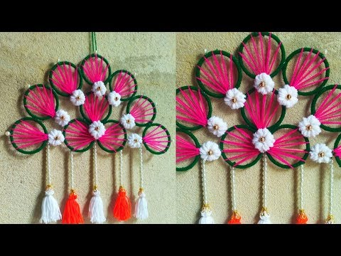 Repeat Diy Woolen Wall Hanging Toran Best Out Of Wool Craft Wall