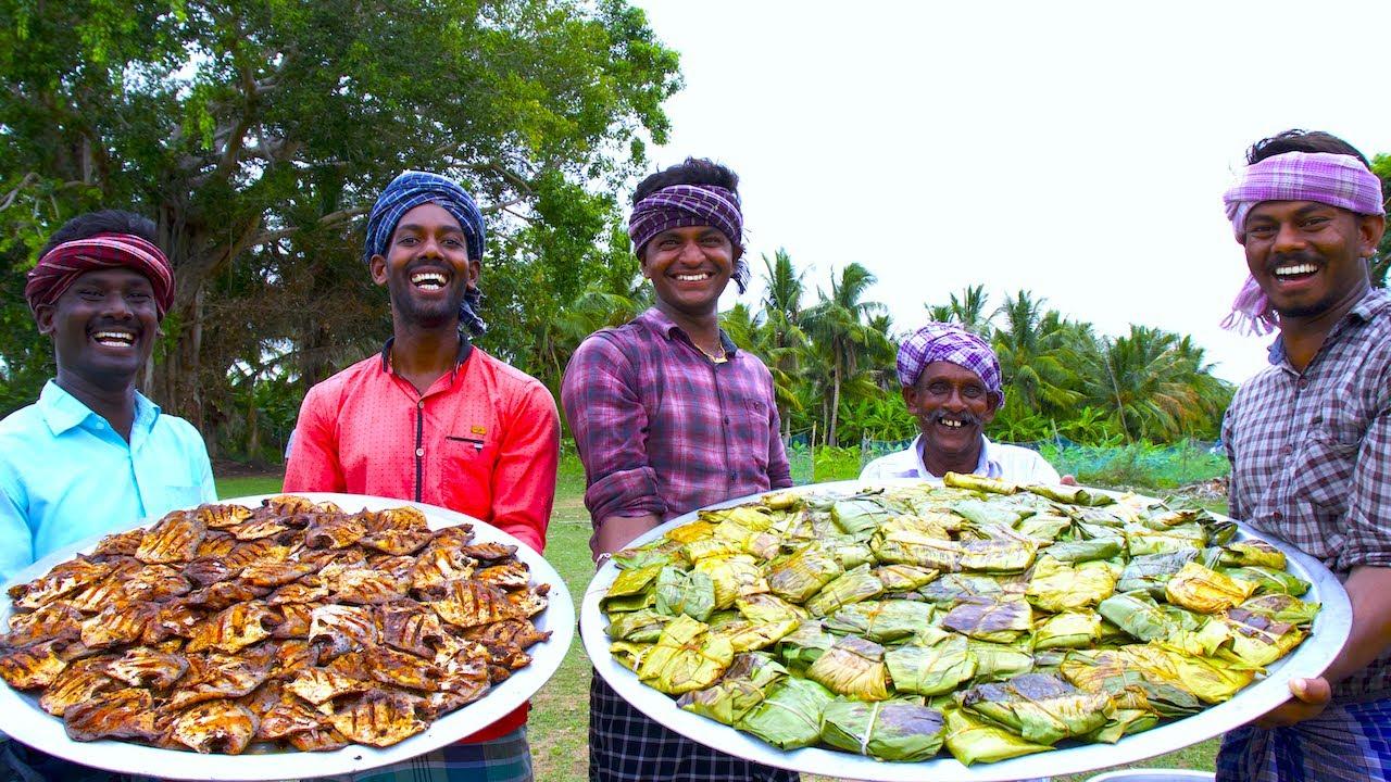 MEEN POLLICHATHU | KERALA Special Fish Fry in Banana Leaf | Silver Pomfret Fish Fry Karimeen Recipe