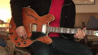 Early 70's Gibson ES-345 walnut part 2 demo of the Varitone Switch