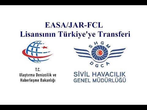 EASA JAR FCL lisans transferi