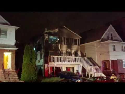 Kearny Nj Fire Department 3rd Alarm  House Fire W/Audio (Elm St) 5-27-17