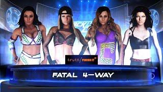WWE 2K18 - Peyton Royce VS Ashley Massarro VS Carmella VS Winter