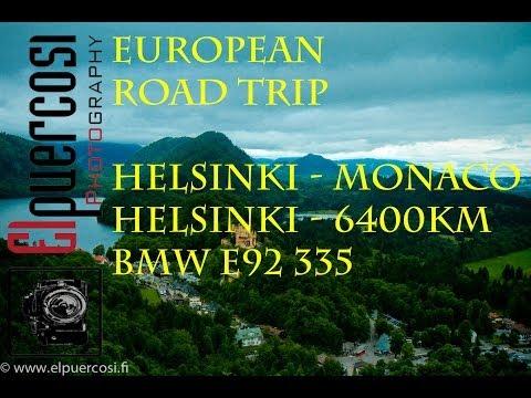 Roadtrip to Ruisrock 2013 / Helsinki-Monaco-Turku 6400km !! European tour with bmw 335
