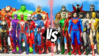 THE AVENGERS CLASSIC MARVEL COMIC VS JUSTICE LEAGUE CLASSIC DC COMIC - EPIC BATTLE