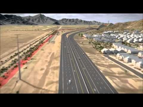 Map Of Loop 202 Arizona.Loop 202 South Mountain Freeway Route Video Youtube