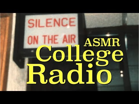 ASMR College Radio (page turning, paper smoothing, soft spea
