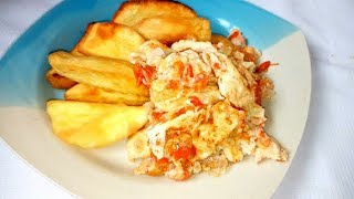 Special Morning Breakfast... (Kiki potatoe and fried egg)