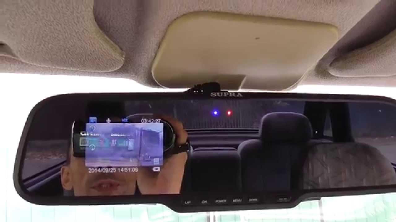 Автомобильный видеорегистратор supra scr 537m в видеорегистраторе dvr-03 изменить дату и время
