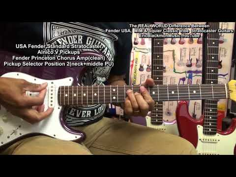 Review Fender USA Stratocaster Vs MIM Vs Squier Classic Vibe Guitar EEMusicLIVE