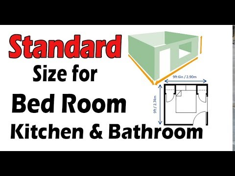 Standard Size For Bedroom ,Master Room , Living Room, Kitchen, Bathroom And  Closet Etc