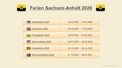 Ferien Sachsen Anhalt 2020 - Termine Schulferien