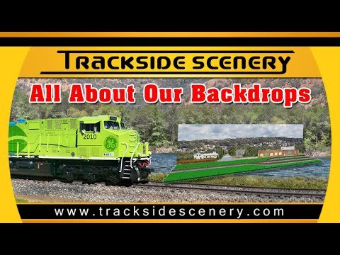 Model Railroad Backdrops From Trackside Scenery