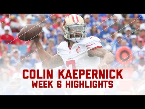 Every Colin Kaepernick Completion & Run from His 1st Start of Season | NFL Week 6 Player Highlights