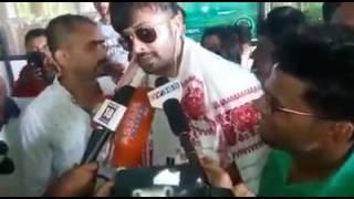 Shakib Khan talking with Indian media