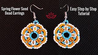 Spring Flower Seed Bead Earrings - Tutorial