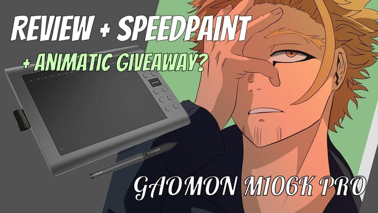 GAOMON M106KPRO Pen Tablet Review [speedpaint + animatic giveaway]