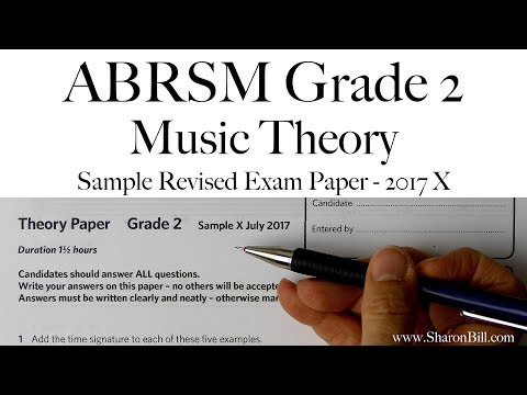 ABRSM Music Theory Past Papers 2017 Model Answers Grade 2