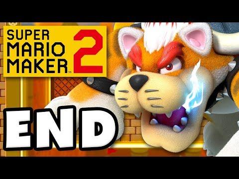 Super Mario Maker 2 - Gameplay Walkthrough Part 12 - ENDING Meowser Boss Fight Nintendo Switch