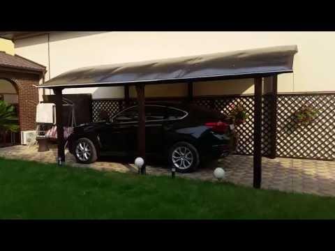 Copertina garaj din lemn, probabil cel mai frumos garaj din Romania! Sunati acum la 0731.49.49.49!