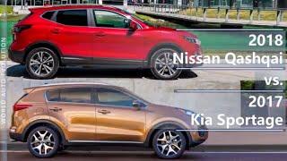 2018 Nissan Qashqai vs 2017 Kia Sportage (technical comparison)