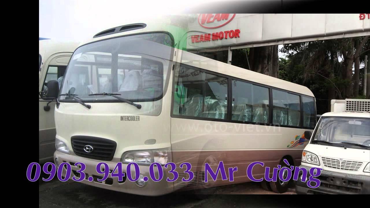 Xe khách county k29 Đô Thành lắp ráp- Bán xe hyundai 29 chỗ 3 cục