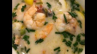 Азиатский суп с креветками от Дениса Лещенко