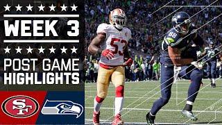 Repeat youtube video 49ers vs. Seahawks (Week 3) | Game Highlights | NFL