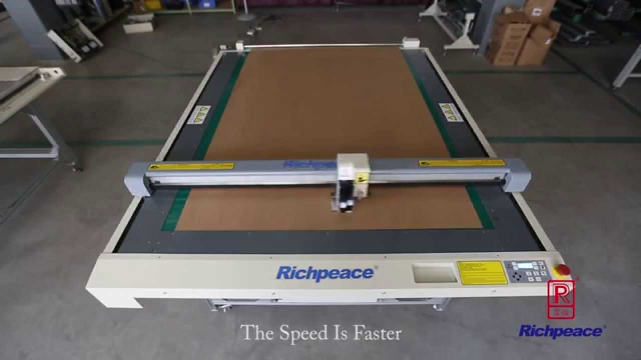 Richpeace Flatbed Inkjet Plotter And Cutter Youtube