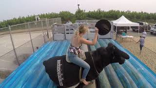 Kristin rides the mechanical SuperBull 8/18 Part Deux