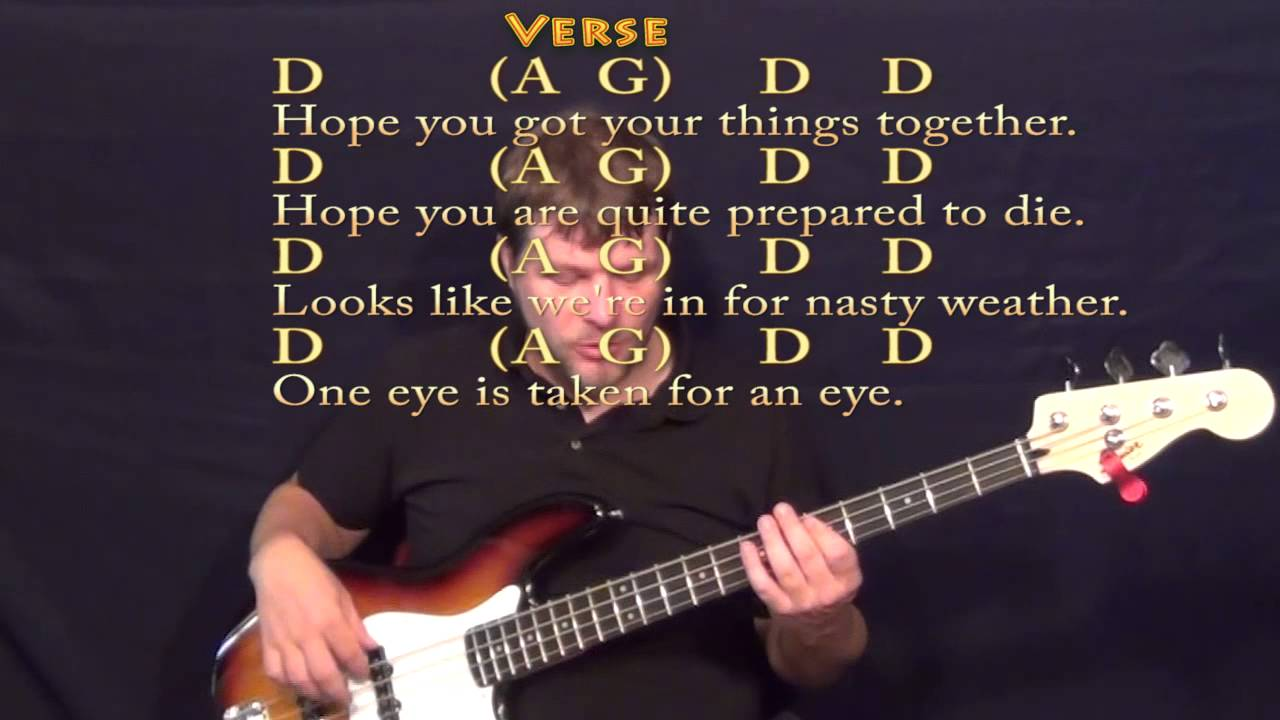 Bad Moon Rising Ccr Bass Guitar Cover Lesson With Chords And