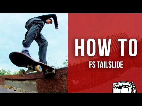 Видео школа скейтбординга - FS Tailslide [23 серия]