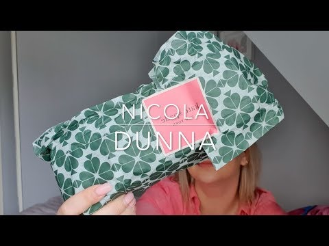 Unboxing My New Kate Spade New York Gold Dot Pencil Case | Nicola Dunna