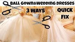 New Wedding Dress | Shortening 3 Different Ball Gown/Wedding Dresses | Last Minute & Easy