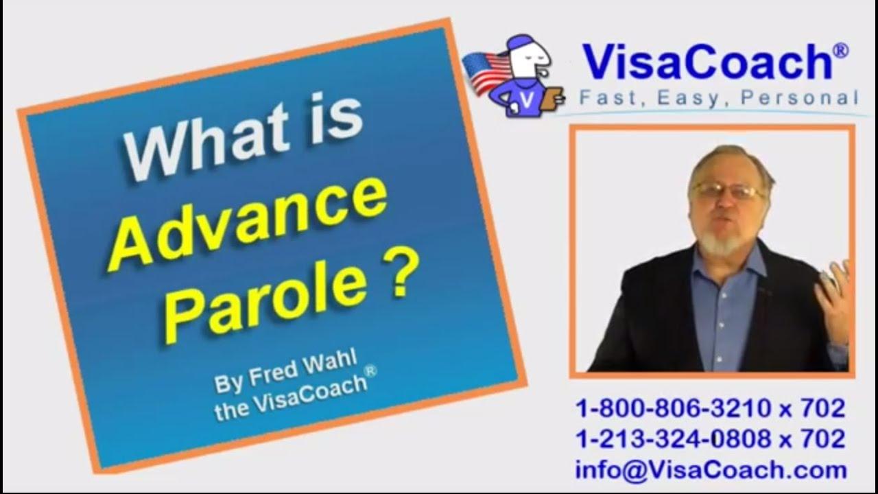 Advance Parole I-512 during Adjustment of Status gc faq #8 - YouTube