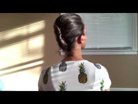 French Twist For Short Hair Youtube